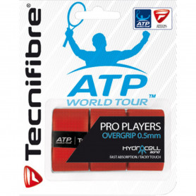 Surgrip tennis Technifibre Pro Players ATP - Rouge - Pack de 3 | Mytennislab.com