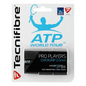 Surgrip tennis Technifibre Pro Players ATP - Noir - Pack de 3 | Mytennislab.com