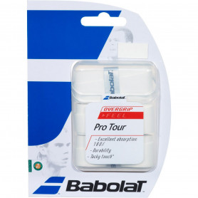 Overgrip tennis Babolat Pro Tour - White (Blister of 3)