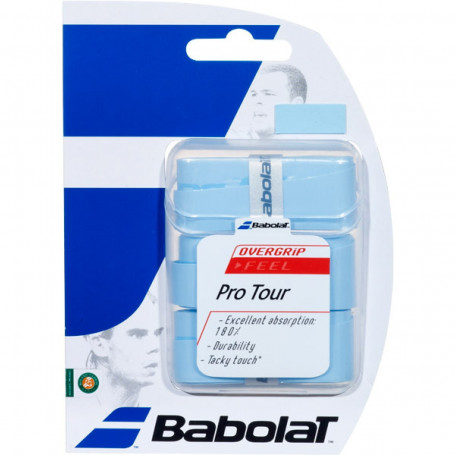 Overgrip tennis Babolat Pro Tour - Blue (Blister of 3)