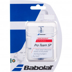 Surgrip tennis Babolat Pro Team SP - Blanc (Pack de 3)