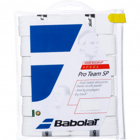 Surgrip tennis Babolat Pro Team SP - Blanc (Pack de 12)