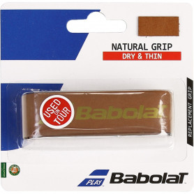 Grip tennis Babolat Natural - Marron | MyTennisLab.com