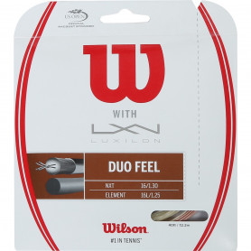 Tennis strings hybrid Wilson Duo Feel: Luxilon Element 1.30mm + Wilson NXT 1.25mm