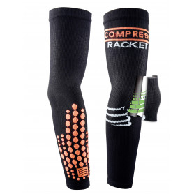 Compressport Elbow Silicon Armforce  - Black - Racket