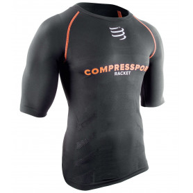 Compressport Short sleeve Top - Black - Racket