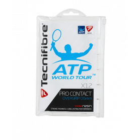 Surgrip tennis Technifibre Pro Contact ATP - Blanc (Pack de 12) | Mytennislab.com