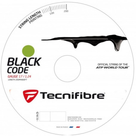 Tennis strings Tecnifibre Black Code (110m-200m)